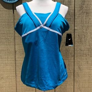 Nike Stay Cool Dri-fit Exercise Tank Top Teal XL